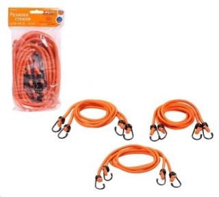 Жгут резиновый для багажа набор 6 шт.: 2 шт.-80см, 2шт.-100см, 2шт-120см, D-8 мм, (металлические крючки)