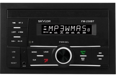 SKYLOR Проигрыватель FW-230BT white MP3,USB,AUX,SD 4x50BT